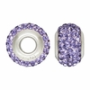 Light Purple Swarovski Crystal Bead
