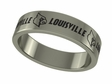 Louisville Cardinals Stainless Steel Ring