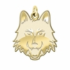Loyola Chicago Ramblers 14K Yellow Gold Natural Finish Cut Out Logo Charm