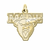 Maine Black Bears 14K Yellow Gold Natural Finish Cut Out Logo Charm