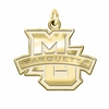 Marquette Golden Eagles 14K Yellow Gold Natural Finish Cut Out Logo Charm