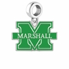 Marshall Thundering Herd Silver Logo and School Color Drop Charm