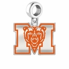 Mercer Bears Silver Logo and School Color Drop Charm