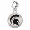 Michigan State Round Dangle Charm