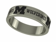 Michigan Wolverines Stainless Steel Ring