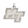 Middle Tennessee State Blue Raiders Natural Finish Charm