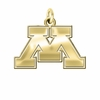 Minnesota Golden Gophers 14K Yellow Gold Natural Finish Cut Out Logo Charm