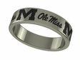Mississippi Rebels Stainless Steel Ring