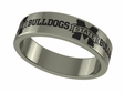 Mississippi State Bulldogs Stainless Steel Ring