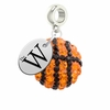 Mississippi University for Women The W Crystal Drop Charm
