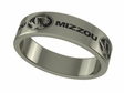 Missouri Tigers Stainless Steel Ring