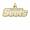 Monmouth Fighting Scots 14K Yellow Gold Natural Finish Cut Out Logo Charm