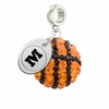 Monmouth Fighting Scots Crystal Drop Charm