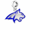 Montana State Bobcats Silver Logo and School Color Drop Charm