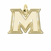 Mount St. Marys Mountaineers 14K Yellow Gold Natural Finish Cut Out Logo Charm