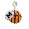 Mount St. Marys Mountaineers Crystal Drop Charm