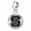North Carolina State Round Dangle Charm