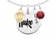 Nebraska Huskers  Necklace With Heart, Color and Love
