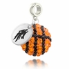 Nevada Wolf Pack Crystal Drop Charm