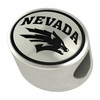 Nevada Wolf Pack Silver Bead