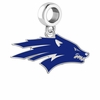 Nevada Wolf Pack Silver Logo and School Color Drop Charm