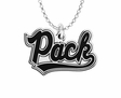 Nevada Wolf Pack Word Mark Charm