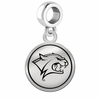 New Hampshire Wildcats Border Round Dangle Charm