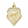 New Mexico Lobos 14K Yellow Gold Natural Finish Cut Out Logo Charm