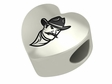New Mexico State Aggies Heart Shape Bead