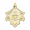 New Orleans Privateers 14K Yellow Gold Natural Finish Cut Out Logo Charm