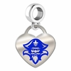 New Orleans Privateers Color Heart Dangle