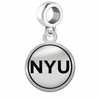 New York Violets Border Round Dangle Charm