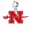 Nicholls State Colonels Silver Logo and School Color Drop Charm