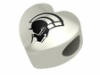 Norfolk State Spartans Heart Shape Bead