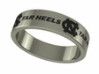 North Carolina Tar Heels Stainless Steel Ring