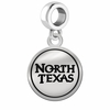 North Texas Mean Green Eagles Border Round Dangle Charm