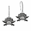 Northern Kentucky Norse Sterling and CZ Logo Drop Earrings