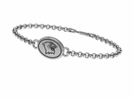 Northwestern University WILDCATS Sterling Silver Bracelet
