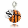 Northwestern Wildcats Crystal Drop Charm