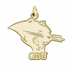 Ohio Dominican Panthers 14K Yellow Gold Natural Finish Cut Out Logo Charm