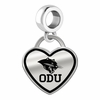 Ohio Dominican Panthers Border Heart Dangle Charm