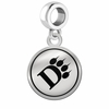 Ohio Dominican Panthers Border Round Dangle Charm