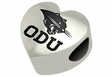 Ohio Dominican Panthers Heart Shape Bead