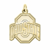 Ohio State Buckeyes 14K Yellow Gold Natural Finish Cut Out Logo Charm
