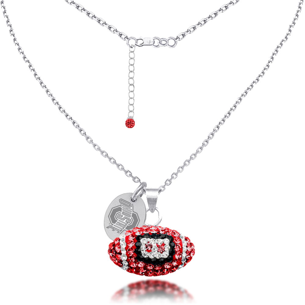 ohio state football necklace