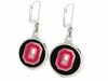 Ohio State Buckeyes Silver Enamel Earrings