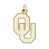 Oklahoma Sooners 14K Yellow Gold Natural Finish Cut Out Logo Charm