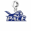 Pace Setters Silver Logo and School Color Drop Charm