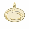 Pennsylvania State Nittany Lions 14K Yellow Gold Natural Finish Cut Out Logo Charm