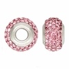 Pink Swarovski Elements Crystal Bead